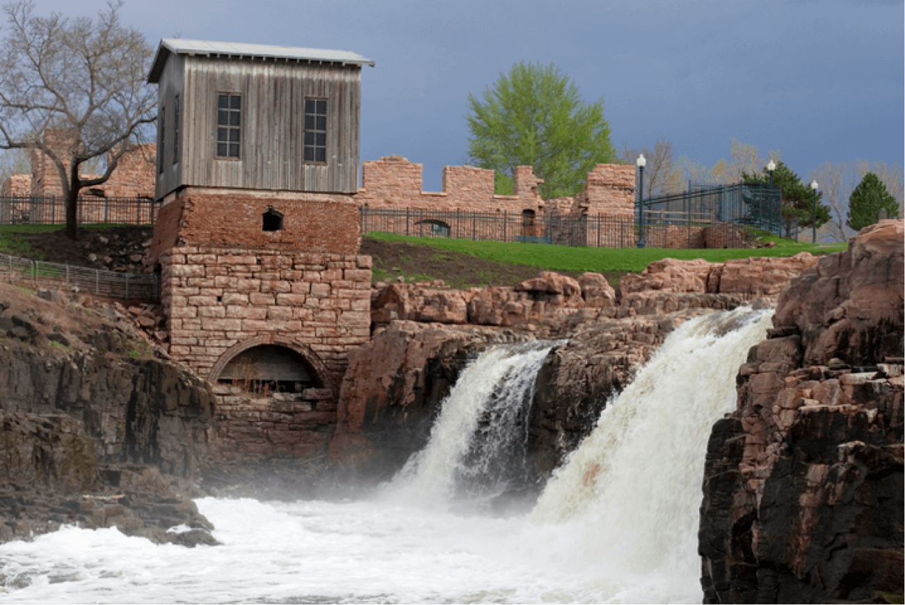 Falls Park, a top Sioux Falls attraction