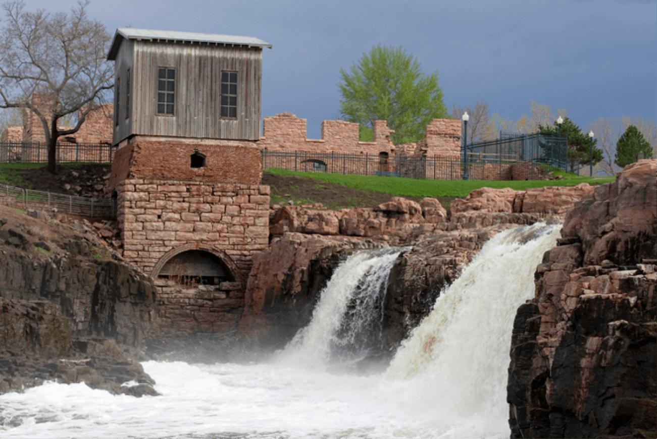 Falls Park, a top Sioux Falls attraction